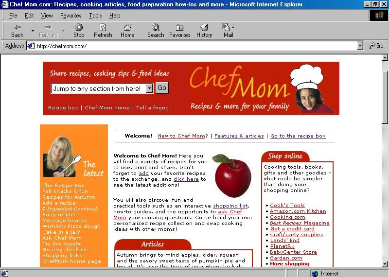 ChefMom.com launches (2000)