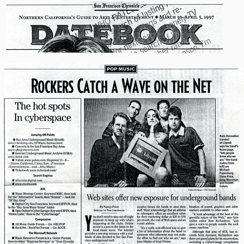 Bands on the web (SF Chronicle)